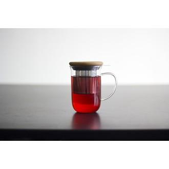 Tisanière en verre et infuseur inox 0,5L