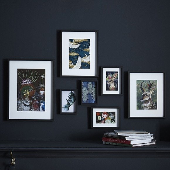 Set de 7 cadres photos assortis noirs