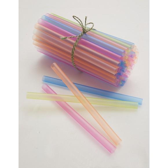200 pailles smoothies colorées 20cm