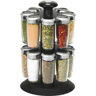 TRUDEAU - Support 16 pots à épices en verre