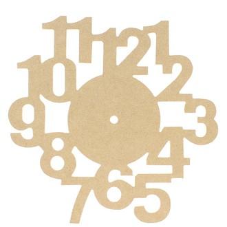 Horloge avec chiffres en MDF 30 cm