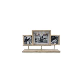 Cadre pèle-mêle à poser en bois - 42x52cm 3 vues