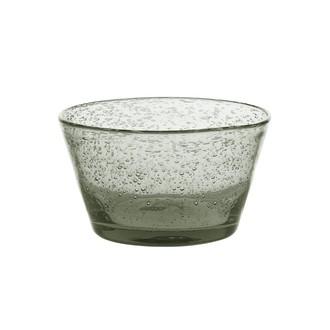 Coupe à glace en verre bullé grise