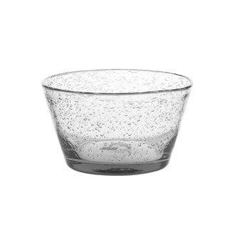 Coupe à glace en verre bullé transparente