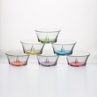 Set de 6 coupes à glace en verre coloré Truva