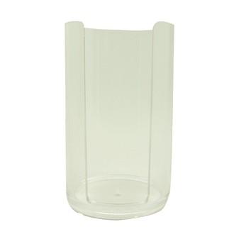 Distributeur de coton en acrylique oval