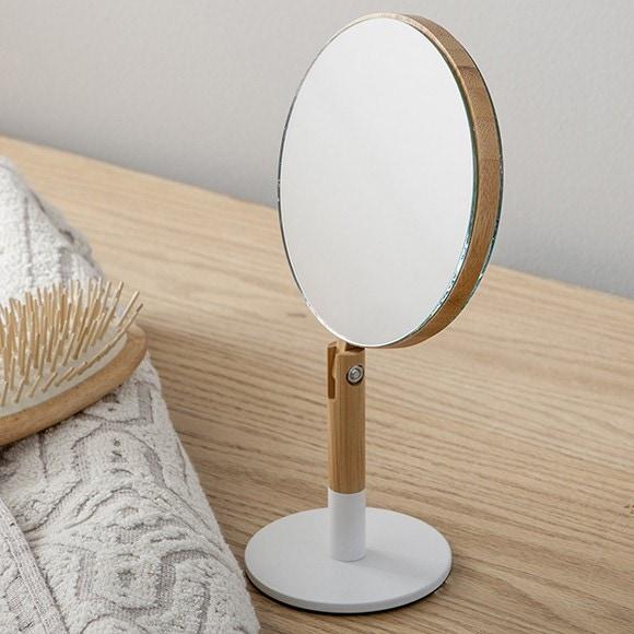 Specchio rotondo inclinabile bianco x3
