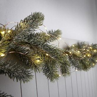 Guirlande lumineuse 150 ampoules led 4,5v câble cuivré 7.5m, usage intérieur et extérieur