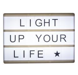 compra en línea Caja de luz magnética + emojis negros A6 Lightbox