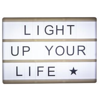 Lightbox magnétique lettres + émoticônes noir A6