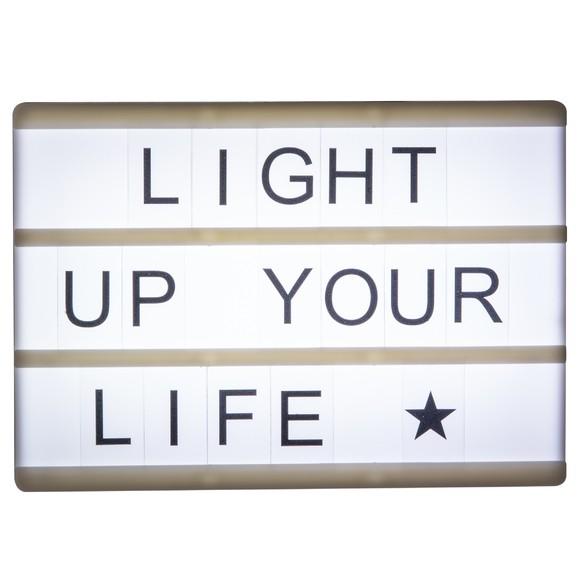 Achat en ligne Lightbox magnétique lettres + émoticônes noir A6