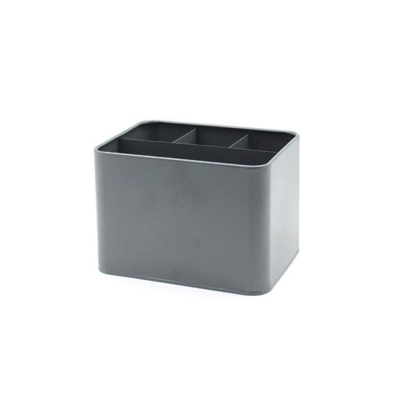 Achat en ligne Porte ustensile rectangulaire en métal gris 17.2x12.8x12.4cm