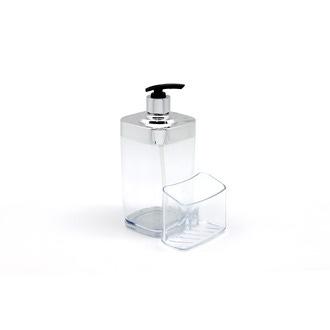 Distributeur à savon en acrylique transparent 12.5x9.8x19.2cm