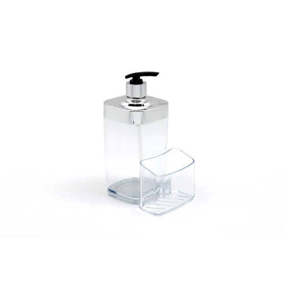 acquista online Dispenser sapone acrilico trasparente 12.5x9.8x19.2cm