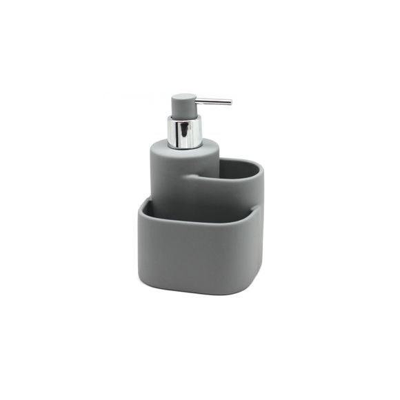 Distributeur à savon en céramique soft touch gris