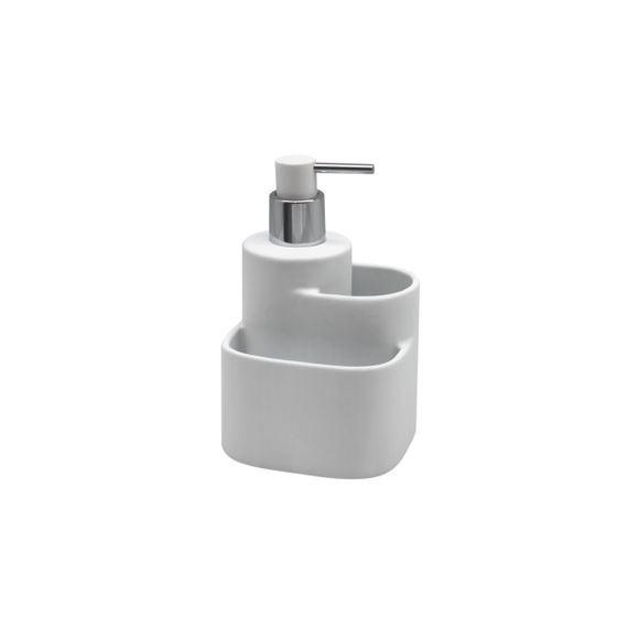 Dispenser in ceramica soft touch bianco