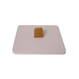 Base de boite à bijoux en bois carré rose fard
