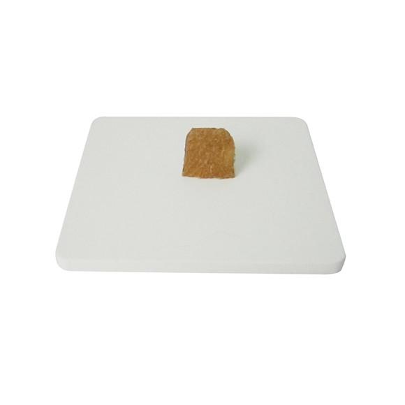 Base de boite à bijoux en bois carré blanc