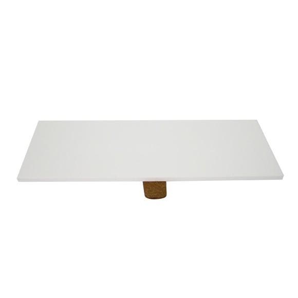 Couvercle pour boite à bijoux en bois rectangulaire blanc