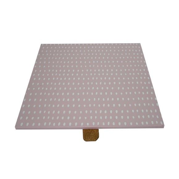 Achat en ligne Couvercle en bois rose réversible pour boite à bijoux carré