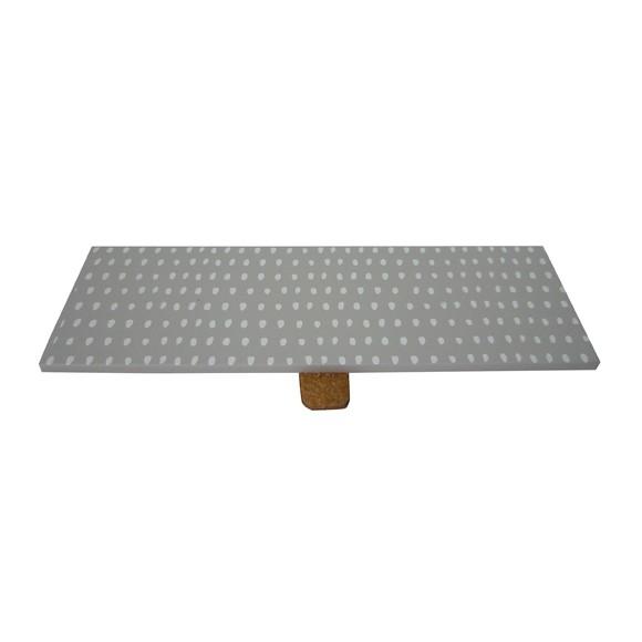 Couvercle bois/gris pour boite à bijoux rectangulaire