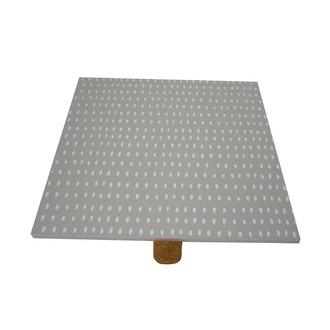Couvercle réversible pour boite à bijoux en bois carré compartimenté gris nuage