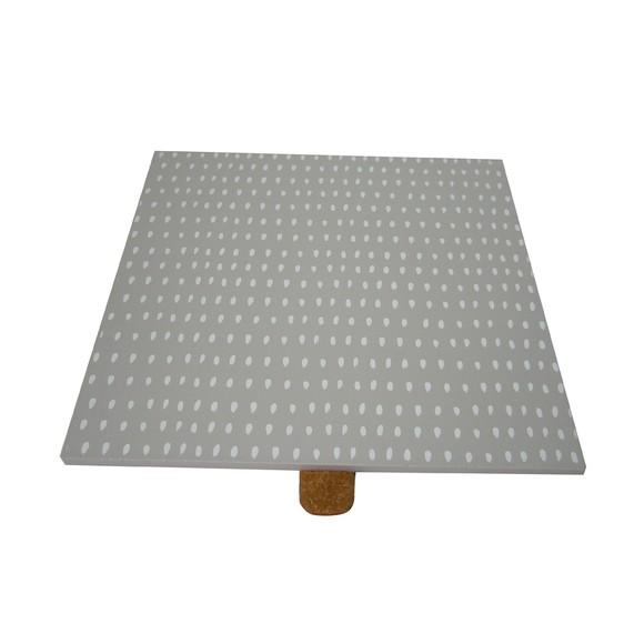 Achat en ligne Couvercle en bois gris réversible pour boite à bijoux carré