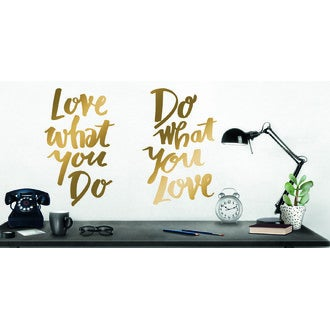 Sticker do what you love noir et or 49x69cm