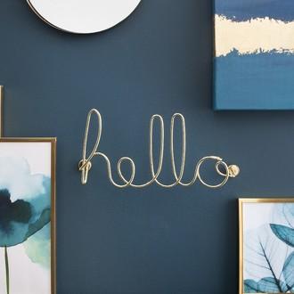 Mot décoratif hello or 32,50x14,70x7,30cm