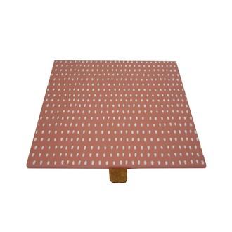 Couvercle réversible pour boite à bijoux en bois carré compartimenté corail