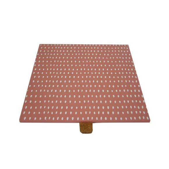 Couvercle bois corail réversible pour boite à bijoux carré
