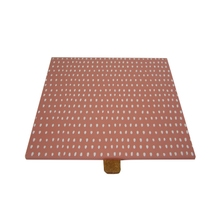 Achat en ligne Couvercle bois corail réversible pour boite à bijoux carré