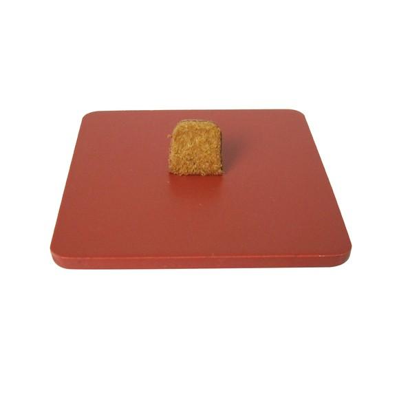 Couvercle pour boite à bijoux en bois carré orange