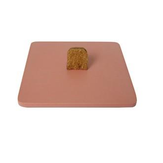 Couvercle pour boite à bijoux en bois carré corail