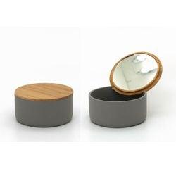 acquista online Portagioie con specchio e coperchio in bambù