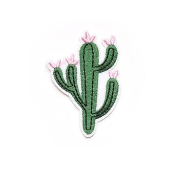LA PETITE EPICERIE Ecusson thermocollant cactus à fleurs