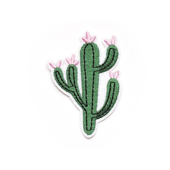 Ecusson thermocollant cactus à fleurs