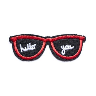 LA PETITE EPICERIE - Ecusson thermocollant lunettes hello you