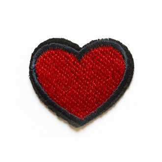 Ecusson thermocollant cœur rouge