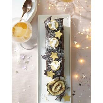 Sujet décoratif comestible en sucre étoile doré