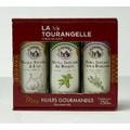 Trio huiles infusées: Ail, Basilic et Thym-Romarin250ml