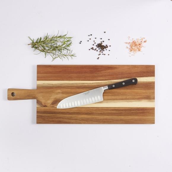 Achat en ligne couteau cuisine santoku Ideale lame inox manche noir