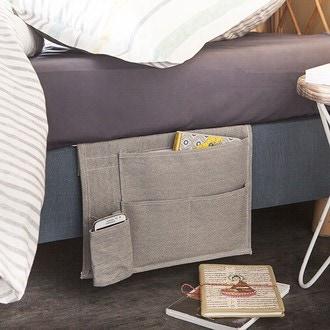 INTERDESIGN - Vide poche pour côté du lit en toile enduite 36x8cm
