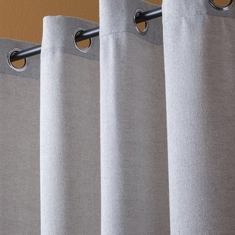 ATMOSPHERA - Rideau effet tissé gris clair Manu 140xh260cm