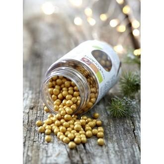 SCRAPCOOKING - Pot de décors sucrés perles doré  55 g