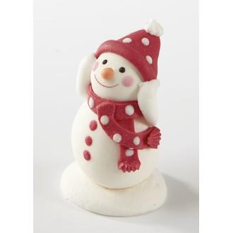 PATISDECOR - sujet comestible sucre bonhomme neige bras levé