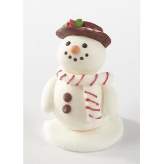 PATISDECOR - sujet comestible sucre bonhomme neige sourire