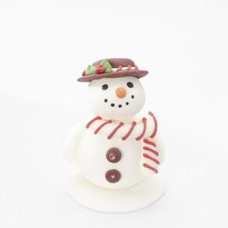 Sujet comestible sucre père noël et bonhomme neige