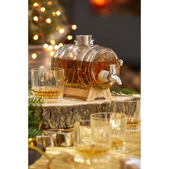 Tonneau distributeur Whisky 1 litre 24 X 11,4 X 25