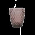 Gobelet en verre coloré, motif diamant pourpre, 28cl